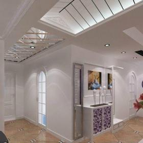 最新白色的客厅过道吊顶效果图