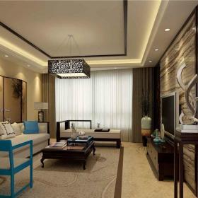 中式客厅-轻舟装饰作品效果图