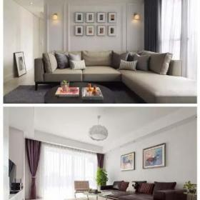 客厅沙发白色沙发背景墙装修装饰图效果图