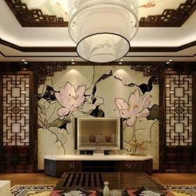 客厅装饰中式花格图片效果图