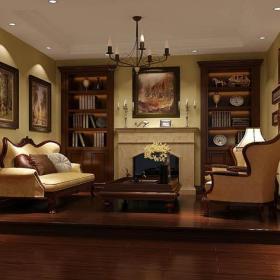 新房小客廳實木茶幾美式客廳吊燈客廳家具客廳沙發大氣時尚的待客廳設計效果圖大全