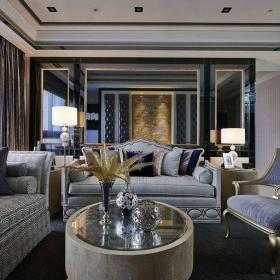 白色歐式客廳五居室四居室歐式風格宮廷風客廳裝修效果圖