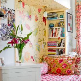 室內客廳手繪墻裝修設計效果圖