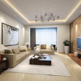 简约电视背景墙客厅时尚大气效果图