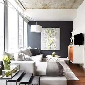 简约客厅舒适小户型客厅装潢图效果图