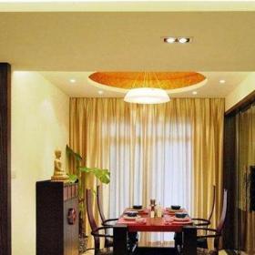中式古典装修样板房客厅效果图
