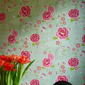 客厅背景墙清新夺目的彩色背景墙设计效果图大全
