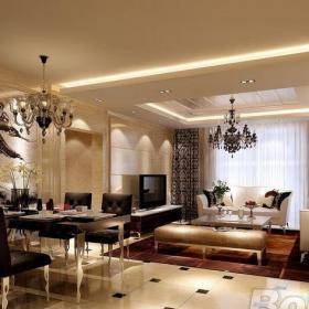 欧式,奢华三居室客厅装修效果图欣赏