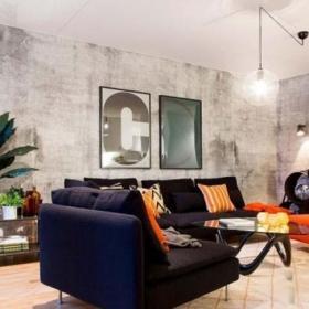 客厅沙发小客厅工业风客厅装修装饰效果图