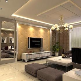 电视背景墙简约风格客厅电视墙效果图