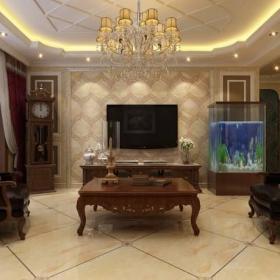 美式美式風格客廳裝修效果展示效果圖