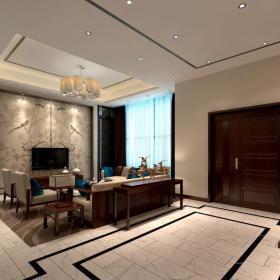 全中式客厅效果图图集