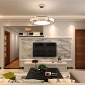 小客厅石材电视隔断墙装修效果图