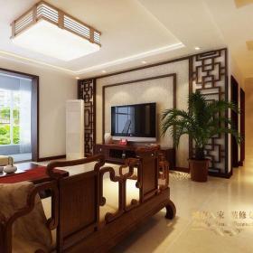 中式风格客厅电视背景墙装修效果图中式风格茶几图片