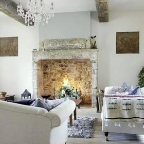 美式風格美式鄉村風格舒適閑適溫馨美式鄉村風客廳設計效果圖