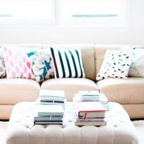 欧式风格大气粉白色欧式客厅茶几效果图