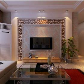 混搭电视背景墙客厅电视墙茶镜设计效果图