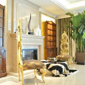 新古典风格客厅壁炉装修效果图