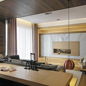 休闲椅简约客厅家具大户型客厅灰色石材电视背景墙装修图片效果图
