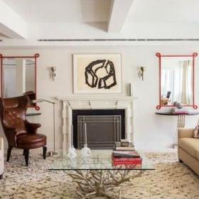 混搭風格客廳裝飾壁爐裝修效果圖欣賞
