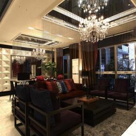 中式客廳中式風格客廳吊頂裝修效果圖