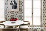 70㎡现代一居客厅背景墙有绅士风度的餐厅壁纸装修效果图