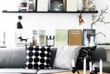 90㎡現代沙發茶幾個性十足的冷色調客廳裝修效果圖