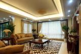 古典日式别墅装修客厅吊顶灯带效果图