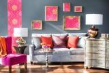 客廳沙發墻掛畫效果圖