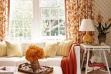 清新窗帘120㎡茶几大户型单身公寓沙发金秋时节的客厅摸样装修效果图