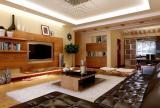 电视柜茶几背景墙日式客厅茶几客厅背景墙有隔板的沙发背景墙效果图欣赏