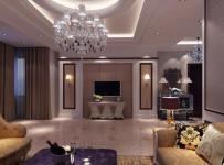 客厅壁灯沙发茶几电视柜窗帘简欧风格客厅吊顶装修效果图简欧风格最新欧式电视背景墙图片
