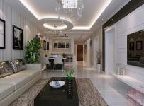 89㎡現代簡約風格兩室兩廳客廳背景墻裝修效果圖現代簡約風格茶幾圖片