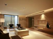 原木色91-120平米三居室沉稳日韩风格客厅装修效果图