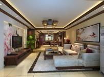沙發背景墻照片墻吊頂電視柜156平米三居新中式風格客廳電視背景墻裝修效果圖新中式風格茶幾圖片