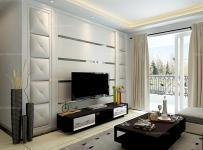 電視背景墻白色電視柜100㎡茶幾背景墻現代茶幾客廳背景墻黑白新詮釋,演繹客廳裝修新風尚效果圖大全