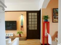 日式风格小户型小清新白色经济型80平米客厅过道电视柜图片效果图