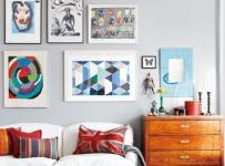 背景墙混搭一居单身公寓客厅背景墙的新设计效果图欣赏