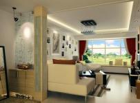 隔断柜沙发背景墙三居窗帘现代简约风格客厅吊顶装修效果图现代简约风格隔断鞋柜图片