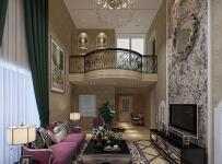 欧式新古典四居室客厅吊顶装修效果图欣赏