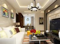 休闲沙发电视柜吊灯现代三居茶几三怒客厅侧面家具图片效果图大全