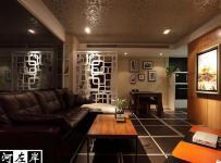 公寓混搭风格二居室富裕型客厅沙发效果图
