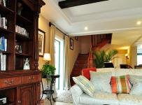 新古典风格别墅原木色富裕型140平米以上客厅沙发图片效果图