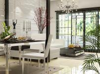 黑色隔斷現代90㎡黑色客廳與餐廳隔斷設計打造完美空間層次感裝修效果圖