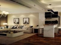 休闲沙发装?#20301;?#21514;灯餐台交换空间沙发现代客厅茶几地毯原棕色交换空间?#30340;?#22320;板装修效果图
