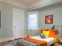 宜家风格客厅三层双拼别墅可爱卧室小卧室的装修图片效果图