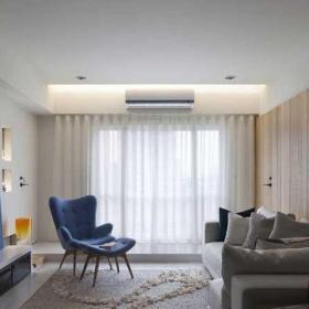 70平米原木色混搭风格二居室混搭清新客厅设计效果图