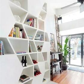 家具格子創意客廳超大收納柜效果圖