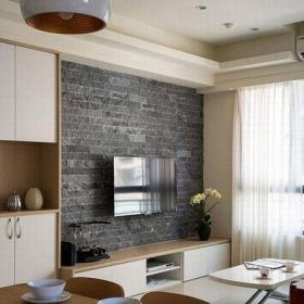 70平米日式风格二居室温馨日式客厅设计效果图