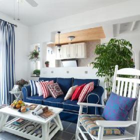 客廳客廳白白的客廳!充滿地中海味道效果圖